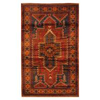 Handmade Herat Oriental Afghan Hand-knotted Tribal Balouchi Wool Area Rug (Afghanistan) - 2'8 x 4'7