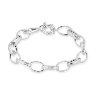 Pori Jewelers Sterling Silver Rolo Bracelet - strand