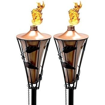 2 Metal Torches - 5' Length
