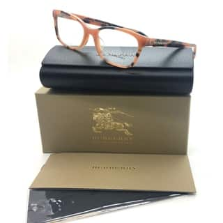 Burberry Amber Eyeglasses B 2201 F 3518 54 mm Designer Italy Rectangular|https://ak1.ostkcdn.com/images/products/18731722/P24806946.jpg?impolicy=medium