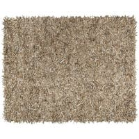 Safavieh Hand-Knotted Leather Shag Beige Leather Rug - 6' x 9'