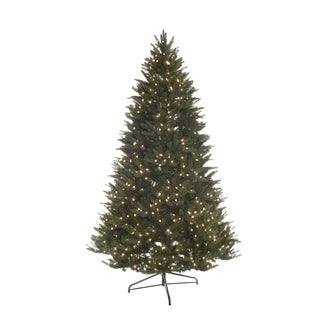 Puleo Internation 7.5 ft. Pre-Lit Miracle Shape Carolina Spruce Tree with 800 UL Clear Lights