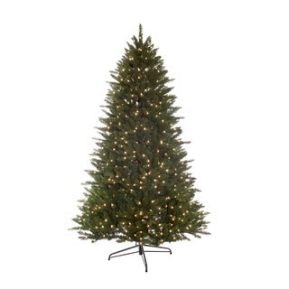 Puleo International 7.5 ft. Pre-Lit Miracle Shape Hamilton Spruce Tree with 800 UL Clear Lights