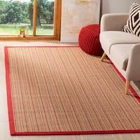 Safavieh Natural Fiber Brown/ Red Sisal Rug - 6' x 9'