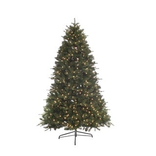Puleo Intl 7.5 ft. Miracle Shape Bradford Pine with 800 Clear Lights