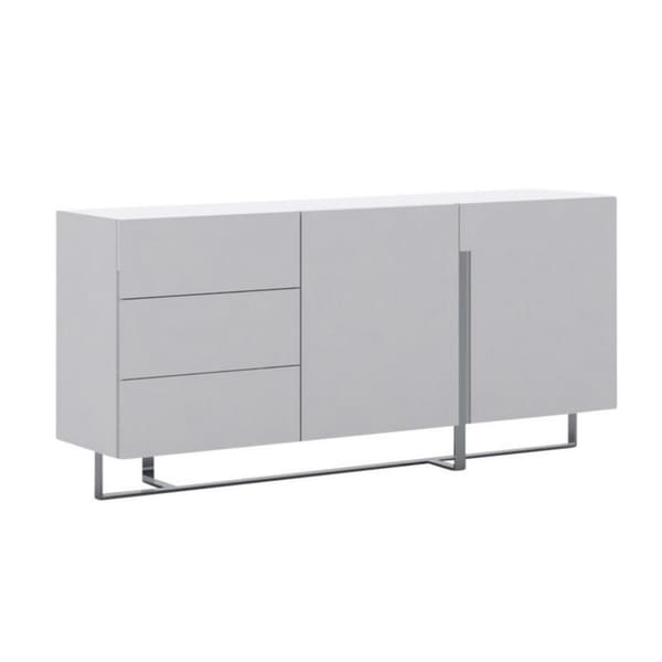 COLLINS High Gloss White Lacquer Buffet by Casabianca Home