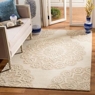 Safavieh Handmade Blossom Lorene Modern Floral Wool Rug