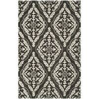Safavieh Handmade Blossom Charcoal/ Ivory Wool Rug - 8' x 10'