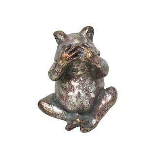 SPEAK NO EVIL FROG STATUE