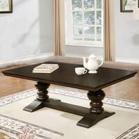 Best Quality Furniture 2-Piece Cappuccino Coffee and End Table Set