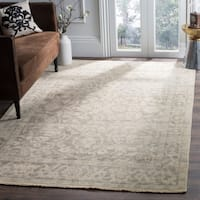 Safavieh Hand-Knotted Izmir Light Grey/ Light Mint New Zealand Wool Rug - 8' x 10'