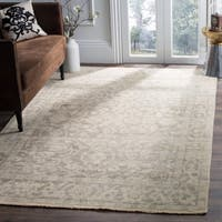 Safavieh Hand-Knotted Izmir Light Grey/ Light Mint New Zealand Wool Rug - 9' x 12'