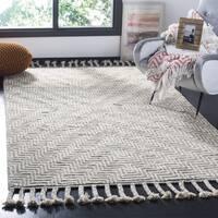 Safavieh Hand-Knotted Kenya Ivory/ Grey Wool Rug (9' x 12') - 9' x 12'