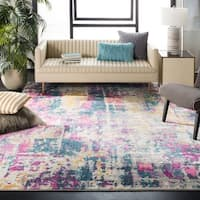 Safavieh Madison Ivory/ Blue Rug - 9' x 12'
