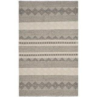 Safavieh Hand-Woven Natura Grey/ Ivory Wool Rug (10' x 14')