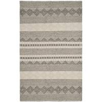Safavieh Hand-Woven Natura Grey/ Ivory Wool Rug - 10' x 14'