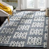 Safavieh Hand-Knotted Paseo Blue/ Grey Wool Rug - 9' x 12'