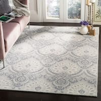Safavieh Handmade Blossom Light Grey/ Ivory Wool Rug - 8' x 10'