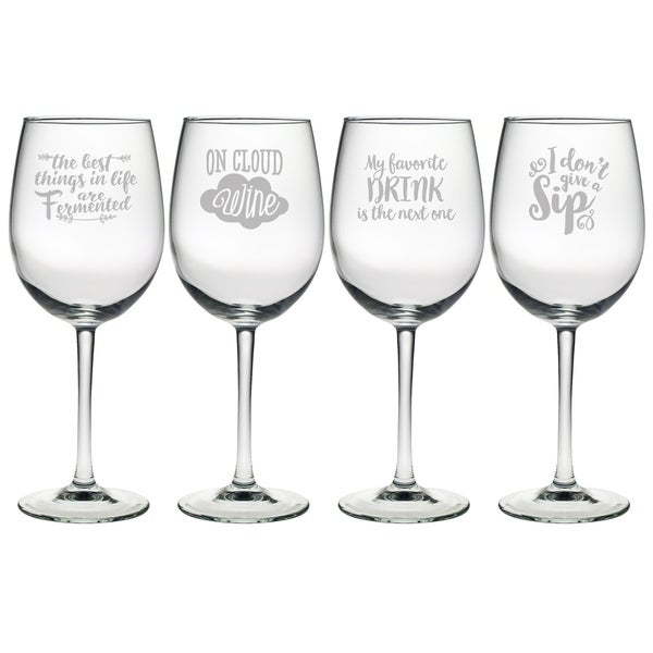 Pour Decisions Assortment Wine Glass (Set of 4)