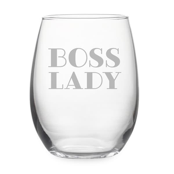 Boss Lady Stemless Wine & Gift Box