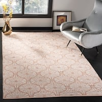 Safavieh Hand-Woven Montauk Flatweave Orange / Ivory Cotton Rug - 8' x 10'