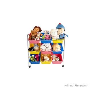 Mind Reader 9 Drawer Rolling Toy Organizer, Multi