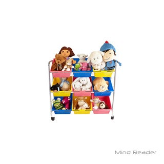 Mind Reader 9 Drawer Rolling Toy Organizer, Multi