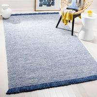 Safavieh Hand-Woven Montauk Blue Cotton Rug - 8' x 10'