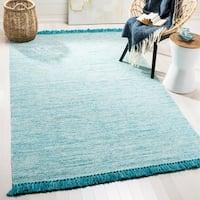 Safavieh Hand-Woven Montauk Turquoise Cotton Rug (8' x 10')