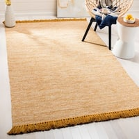 Safavieh Hand-Woven Montauk Gold Cotton Rug - 8' x 10'