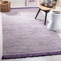 Safavieh Hand-Woven Montauk Purple Cotton Rug - 8' x 10'
