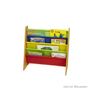 Mind Reader Fabric Sling Book Shelf, Brown