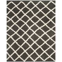 Safavieh Dallas Shag Dark Grey/ Ivory Rug - 8'6 x 12'