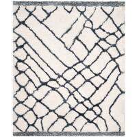 Safavieh Handmade Toronto Shag Ivory/ Blue Polyester Rug - 8' x 10'