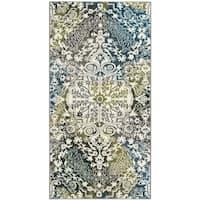 "Safavieh Watercolor Ivory/ Peacock Blue Rug - 2'3"" x 4'"