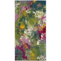 Safavieh Watercolor Green/ Fuchsia Rug - 2'2 x 4'