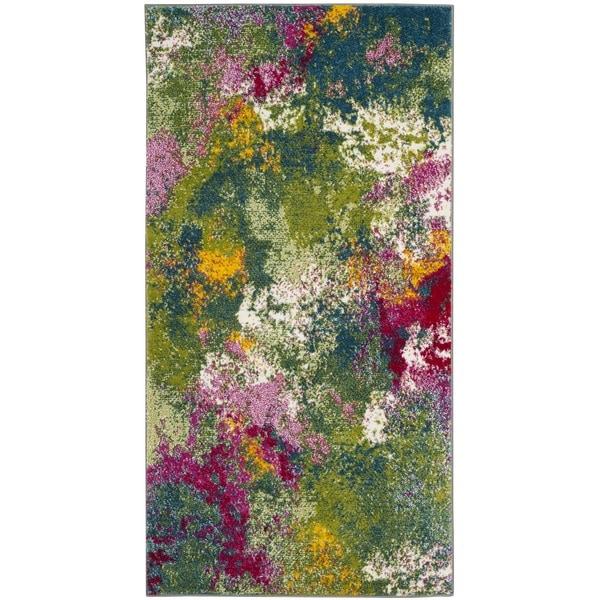 Shop Safavieh Watercolor Green/ Fuchsia Rug