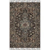 Safavieh Handmade Aspen Bohemian Charcoal/ Light Brown Wool Rug - 2' x 3'
