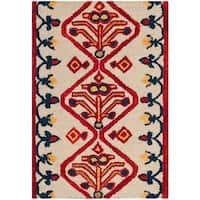 Safavieh Handmade Aspen Ivory/ Multi Wool Rug (2' x 3')