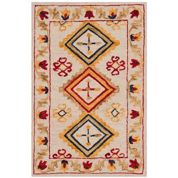 Safavieh Handmade Aspen Ivory/ Multi Wool Rug - 2' x 3'