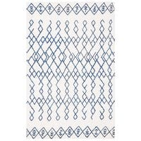 Safavieh Hand-Woven Cedar Brook Ivory/ Navy Cotton Rug - 2'6 x 4'