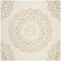 Safavieh Handmade Blossom Ivory/ Beige Wool Rug - 6' Square