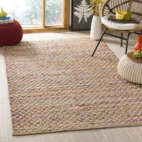 Safavieh Hand-Woven Cape Cod Red/ Natural Jute Rug - 6' x 6' Square