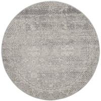 Safavieh Evoke Vintage Oriental Silver/ Ivory Distressed Rug - 9' Round