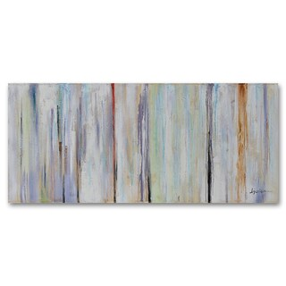 Benjamin Parker 'Transitioning' 32 x72-inch Hand Painted Wood Wall Art