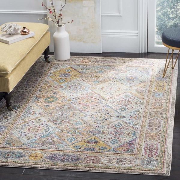 Safavieh Aria Vintage Cream/ Multi Rug - 6'5 square