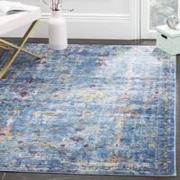 Safavieh Aria Vintage Blue/ Multi Rug - 6'5 square