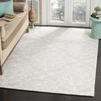 Safavieh Handmade Blossom Sage/ Ivory Wool Rug (6' Square)