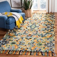 Safavieh Handmade Blossom Blue/ Multi Wool Rug - 6' x 6' Square