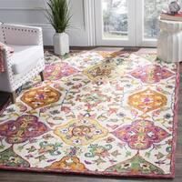 Safavieh Handmade Blossom Ivory/ Multi Wool Rug - 6' Square